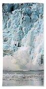 Glacier Calving Margerie Beach Towel