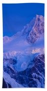Glacier Covered Paine Grande, Chile Beach Towel