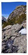 Glacier Gorge Ahead Beach Towel