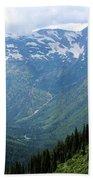 Glacier Mountain Beach Towel