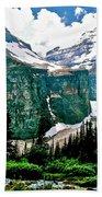 Glaciers Along Plain Of Six Glaciers Trail In Banff Np-alberta Beach Towel