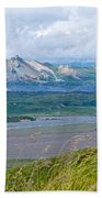 Glaciers And Mountains From Eielson Visitor's Center In Denali Np-ak  Beach Towel