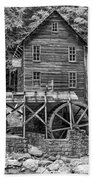 Glade Creek Grist Mill Bw Beach Towel
