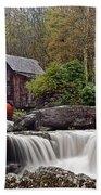 Glade Creek Waterfall Beach Towel