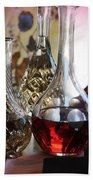 Glass Decanters And Glasses Beach Towel