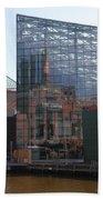 Glass Facade Reflection - Aquarium Baltimore Beach Towel