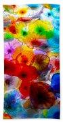 Glass Flowers Beach Towel