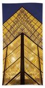 Glass Pyramid Beach Towel