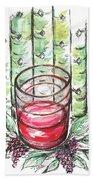 Glass Rosy Wine Beach Towel