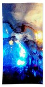 Glass Vase Abstract Beach Towel