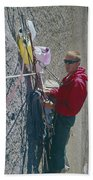 T-306607-glen Denny With Me On El Cap First Ascent 1962 Beach Towel