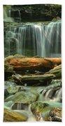 Glen Leigh River Rocks And Falls Beach Towel