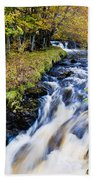 Glenbrittle Waterfall Beach Towel