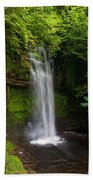 Glencar Waterfall Is Situated Beach Towel