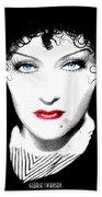 Gloria Swanson - Edith Piaf Beach Towel