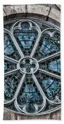 Glorious Church Stained Glass Beach Towel