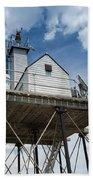 Gloucester Harbor Beacon Station Beach Towel