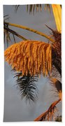 Glowing Palm Blossoms Beach Towel