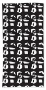 Glyphs 15 Phone Case Beach Towel