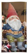 Gnome On A Swing 2 Beach Towel