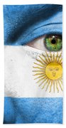 Go Argentina Beach Towel
