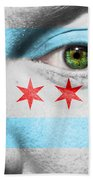 Go Chicago Beach Towel by Semmick Photo