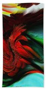 Go With The Flow Abstract Beach Towel
