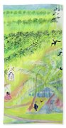 Goa, India, 1998 Oil On Paper Beach Towel
