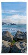 Goat Rock State Beach Near Russian River Outlet Near Jenner-ca Beach Towel