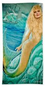 Goddess Atargatis 1000 Bc Beach Towel