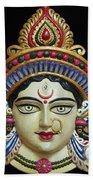 Goddess Durga Beach Towel by Sayali Mahajan