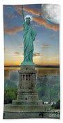 Goddess Of Freedom Beach Towel