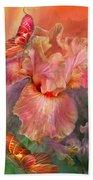Goddess Of Spring Beach Towel by Carol Cavalaris