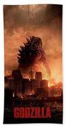 Godzilla 2014 Beach Towel