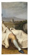 Goethe In The Roman Campagna Beach Towel