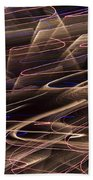 Gold Abstract Lights Beach Towel
