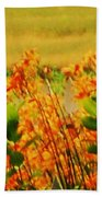 Gold And Orange Landscape Beach Towel