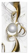 Gold And Pearl Beach Towel