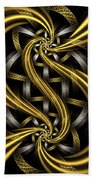 Gold And Silver Beach Towel