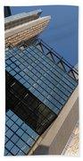 Gold Black And Blue Geometry - Royal Bank Plaza Beach Towel