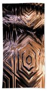 Gold Carving Beach Towel
