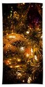 Gold Christmas Ornament Beach Towel