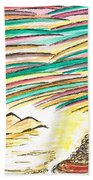 Gold Coins At The End Of  Rainbows Beach Towel