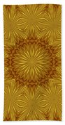 Gold Flowers Beach Towel