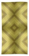 Gold Metallic 14 Beach Towel