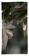 Gold Star Christmas Tree Ornament 4 Of 4 Beach Towel