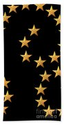 Gold Stars Abstract Triptych Part 2 Beach Towel by Rose Santuci-Sofranko