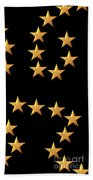 Gold Stars Abstract Triptych Part 3 Beach Towel by Rose Santuci-Sofranko
