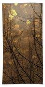 Golden Autumn Abstract Sky Beach Towel