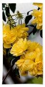 Golden Blooms One Beach Towel